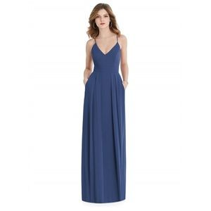 After six  bridesmaid dress with pockets